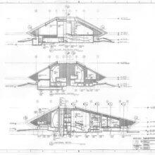 Konstruktionszeichnung für Horizons in Epcot