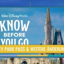 Walt Disney World: neuer Disney Park Pass und weitere Änderungen bei der Wiedereröffnung