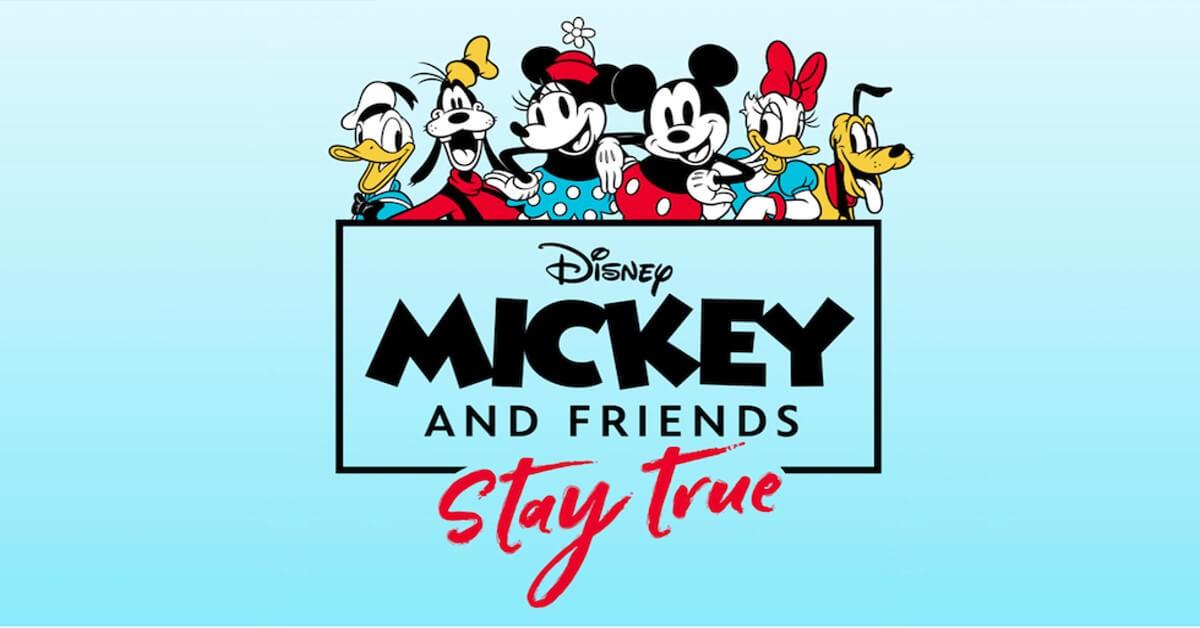 """Mickey Mouse und seine besten Freunde bei der Aktion """"Mickey & Friends: Stay True"""""""