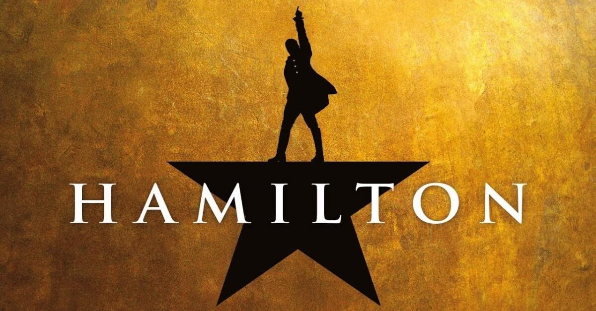 Plakat für das Musical Hamilton