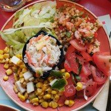 Zur Vorspeise könnt Ihr im La Cantina einen gemischten Salatteller bestellen.