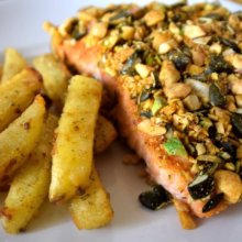 Disney-Rezept: Nut Crusted Salmon aus dem Boma
