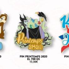 Drei limitierte Pins mit verschiedenen Motiven aus dem Disneyland Paris