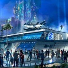 Avengers Headquarters Konzeptzeichnung für Disneyland