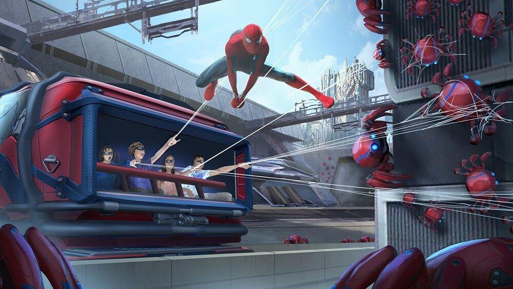 Spider-Man Attraktion Web Slingers in den Disney Parks