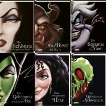 Sechs Bücher mit den Disney Bösewichten