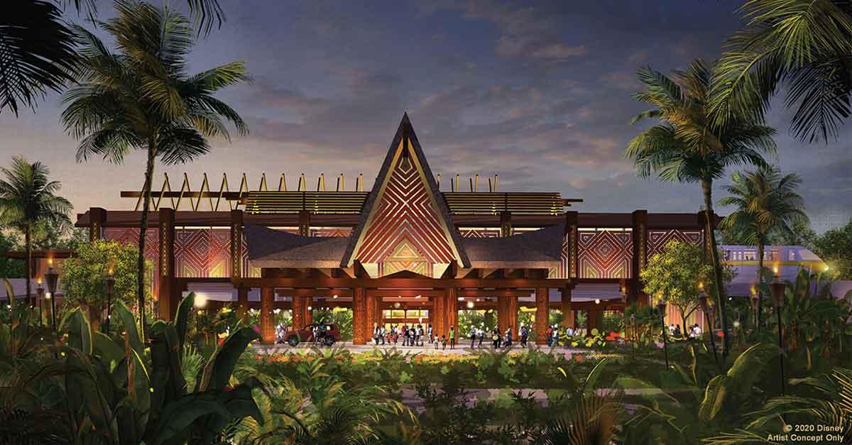 Eintwurf des neuen Eingangs zu Disney's Polynesian Village Resort