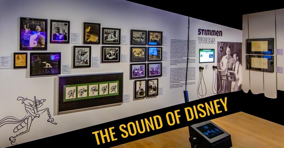 Das Thema Stimmen im Disney Film in der Ausstellung The Sound of Disney