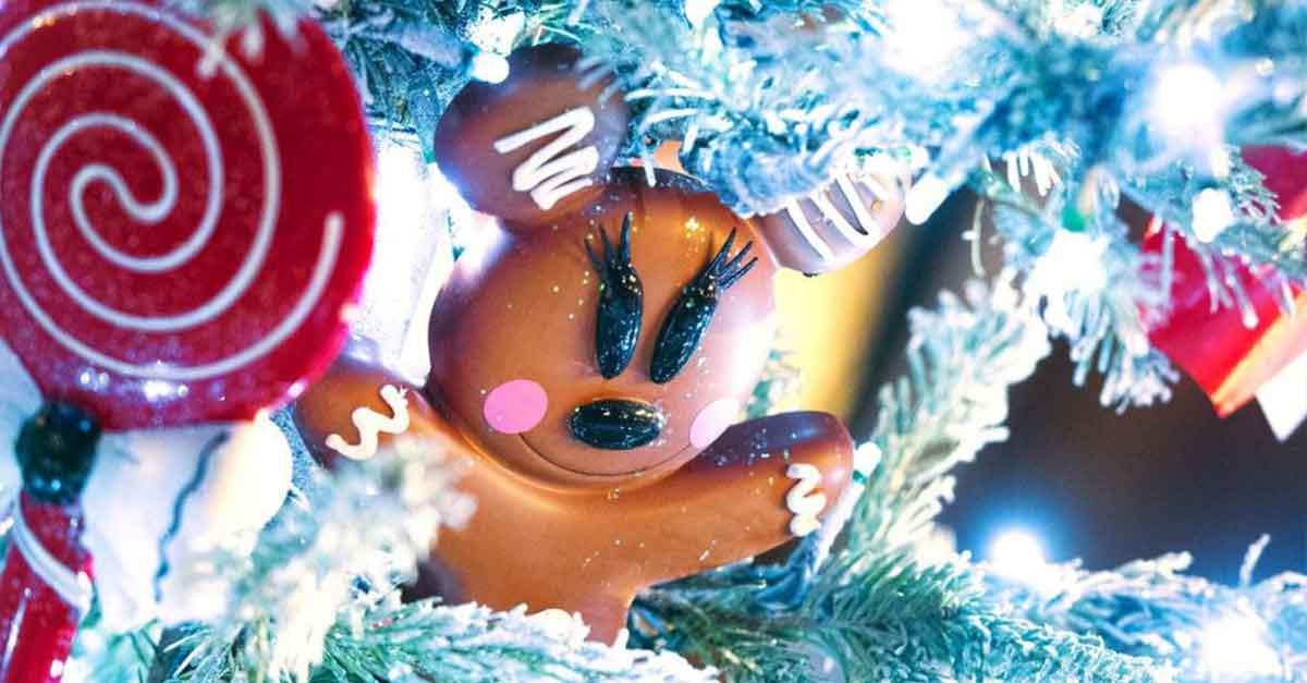 Weihnachtsdekoration mit Disney Süßigkeiten