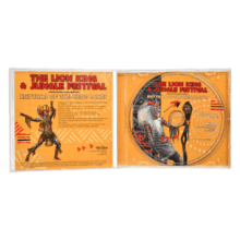 Inlay und CD für den Soundtrack zur Musicalshow Lion King Rhythms of the Pride Lands in Disneyland Paris
