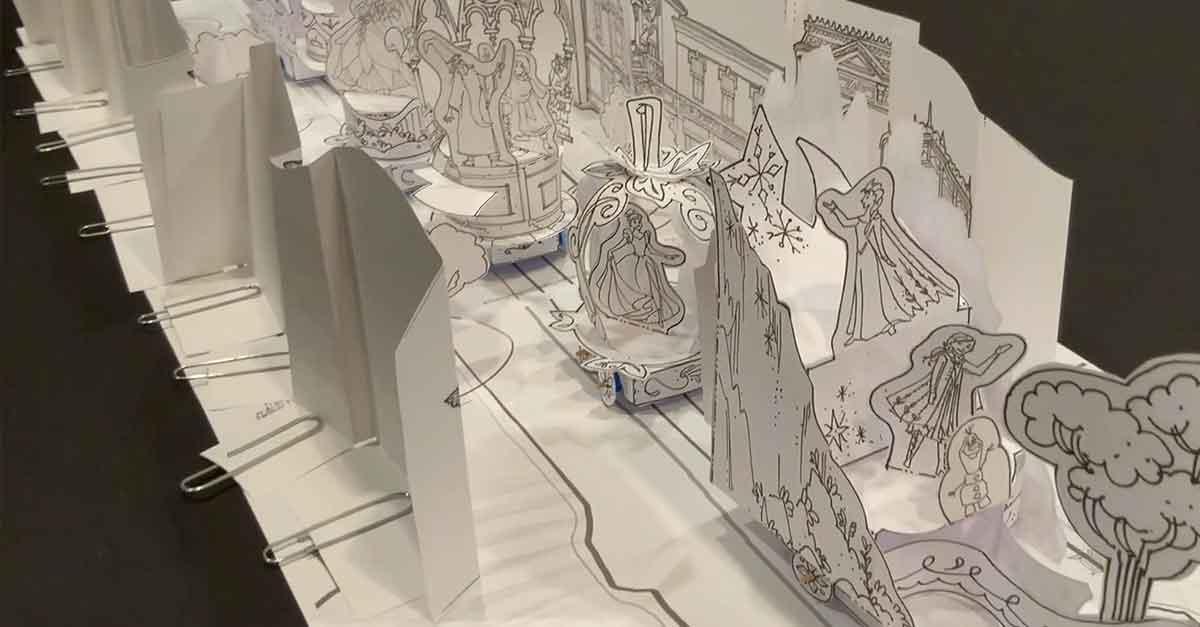 Magic Happens Parade aus Papier in der Mainstreet U.S.A, alles mit den Bastelbögen selbst gemacht.