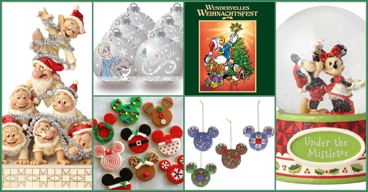 Disney Figuren, Buch und Ornamente als Collage vereint