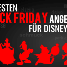 """Disney Charaktere auf schwarzem Hintergrund mit der Schrift """"Die besten Black Week Angebote für Disney Fans"""""""