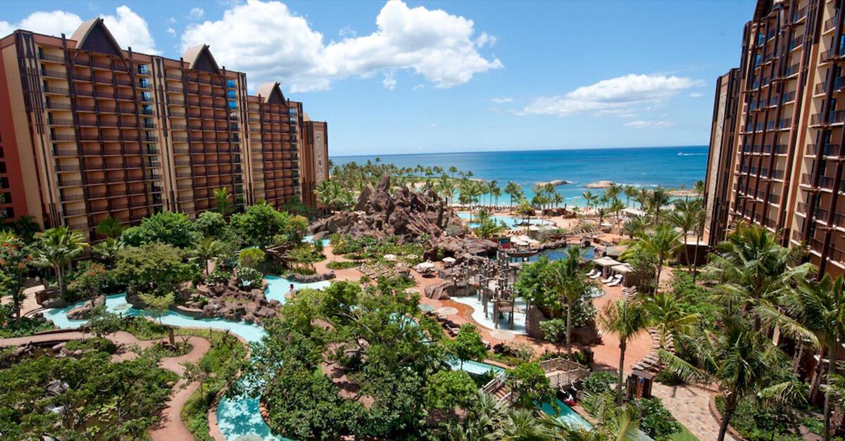 Aulani, A Disney Resort & Spa Hawaii mit Blick auf das Meer