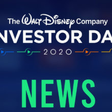 "Schriftzug mit dem Titel ""The Walt Disney Company Investor Day 2020 News"""