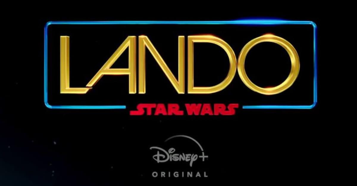 Wir sehen den Slogan zur neuen Serie Lando, über Lando Calrissian, hier im Star Wars typischen schwarzen galaktischen Hintergrund.
