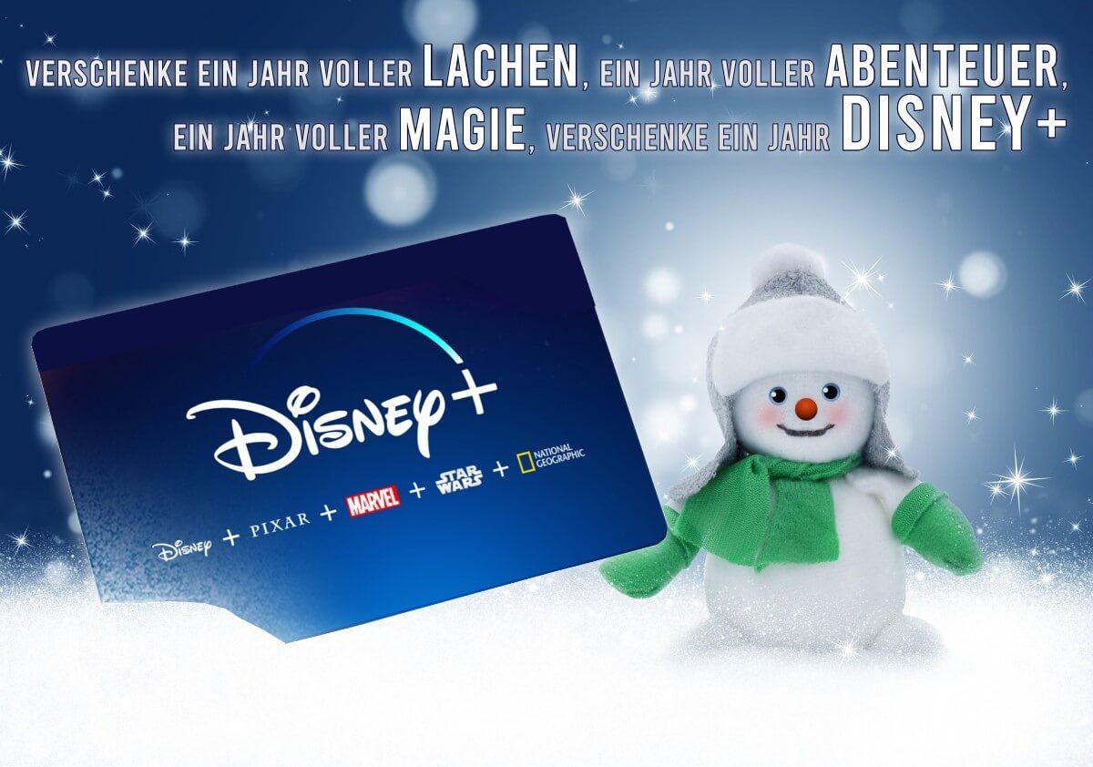 Disney+ Gutschein als Weihnachtsgeschenk