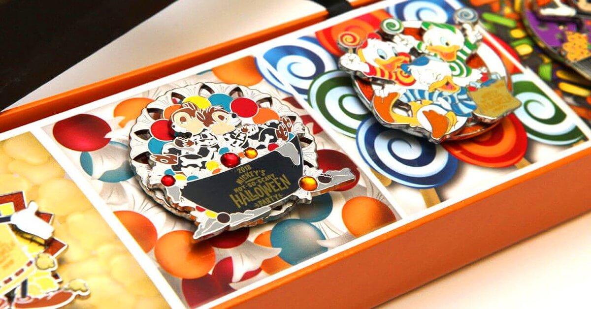 Disney Halloween Pins mit Chip und Chap sowie Tick, Trick und Track