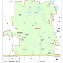 Karte des Areals Bay Lake