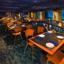 Blick in den Innenraum des Coral Reef Restaurants in Epcot