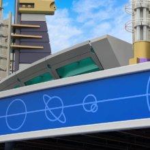 Das neuen Grafikdesign für die Attraktion Buzz Lightyear Laser Blast im Disneyland Paris