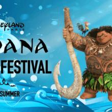 Moana Dream Festival Werbeposter mit Moana, Maui, Pua und HeiHei