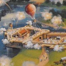 Eine Konzeptzeichnung zeigt das geplante Civil War Fort in Disney's America Park