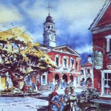 Blick auf den für Disney's America geplanten President's Square