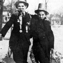 Walt Disney als Kind verkleidet als Abraham Lincoln