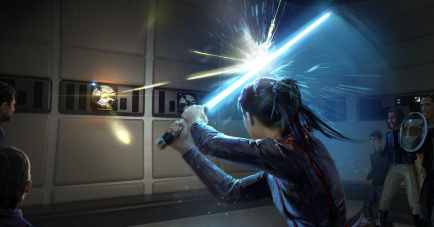 Wie ein Padawan könnt Ihr Eure Fähigkeiten mit dem Laserschwert trainieren.
