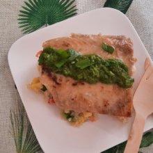 Lachsfilet auf Quinoa-Salat