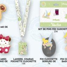 Mehrere Pins in Form von Disney-Süßigkeiten und zu Tinkerbell