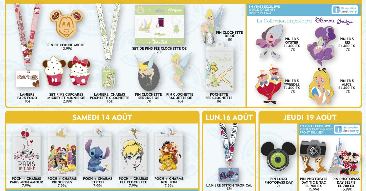 Mehrere neue Pins aus dem Disneyland Paris