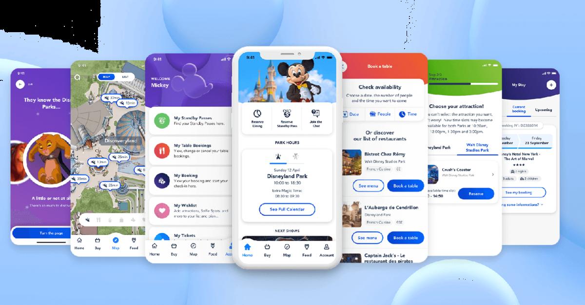 Disneyland Paris App: viele Möglichkeiten & Services in einer App