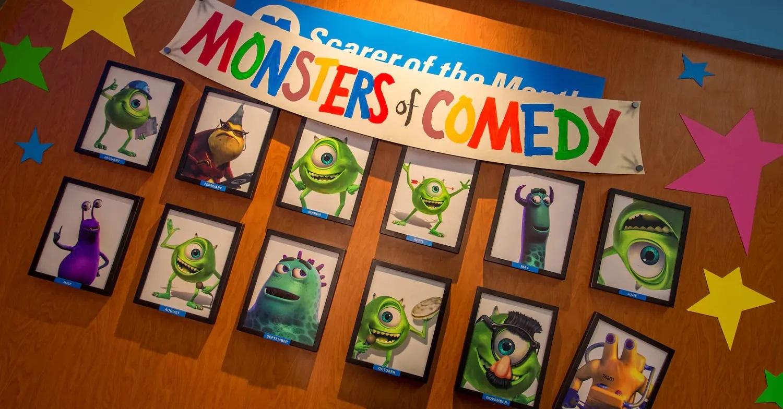 Bilder von Monsters aus Die Monster AG an einer Wand