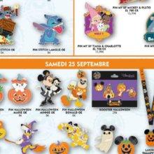Verschiedene Disney Pins mit Halloween-Motiven