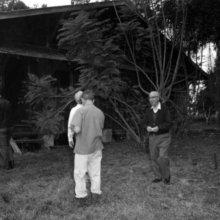 Schwarz-Weiß-Foto von Roy Disney auf der ehemaligen Riles Island