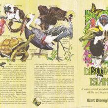 Broschüre zu Discovery Island mit Abbildungen von Tieren