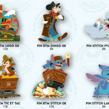 Howdy! Big Thunder Mountain Pins mit Goofy, Stich, Chip & Dale
