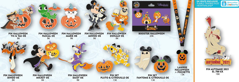 Halloween Pins zu Halloween 2021 in Disneyland Paris