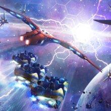 Konzeptzeichnung für die Achterbahn Guardians of the Galaxy Cosmic Rewind