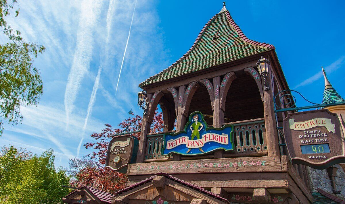 Eingang zum Darkride Peter Pan's Flight im Fantasyland