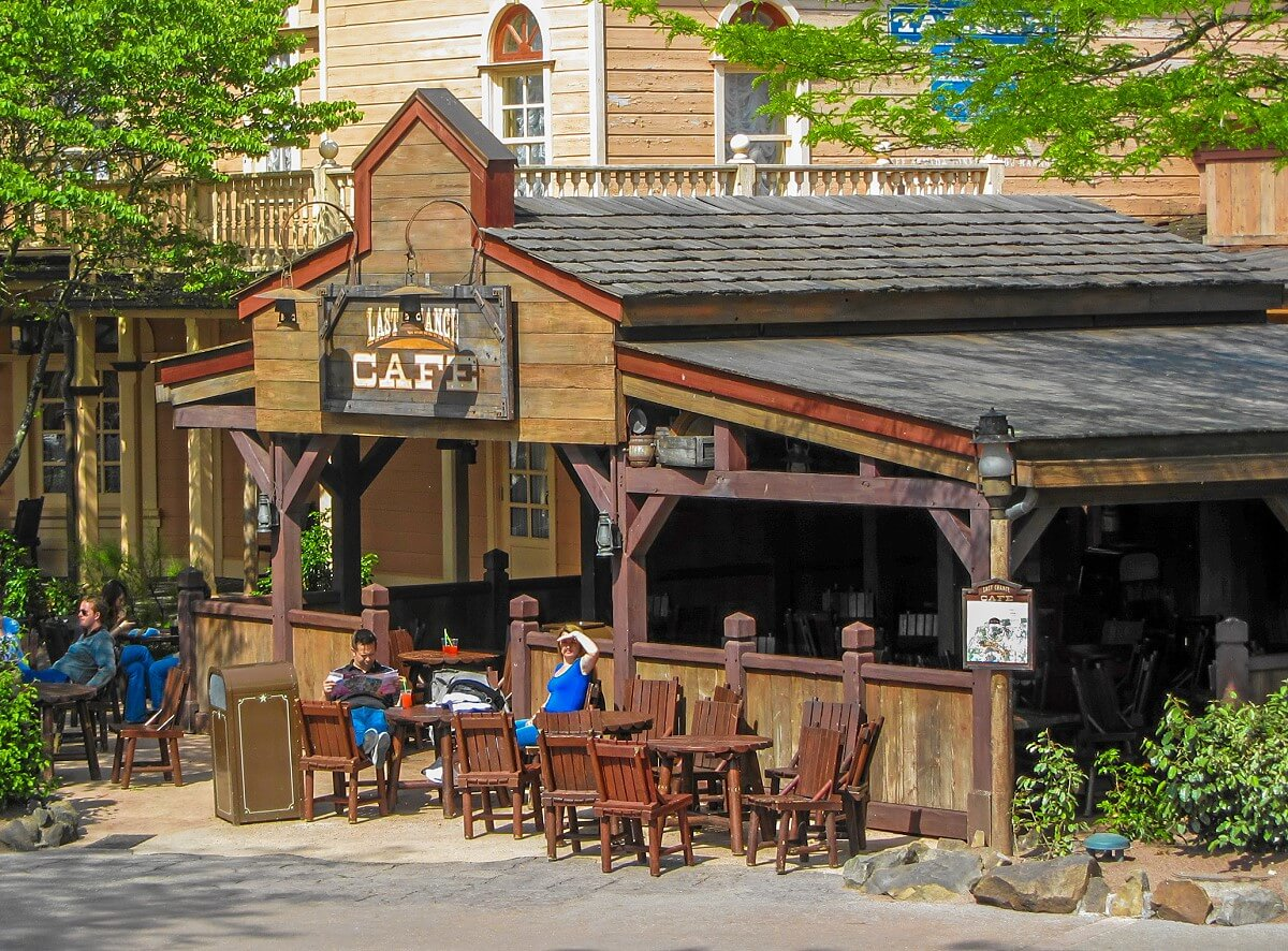 Full view of the Last Chance Café building in Frontierland