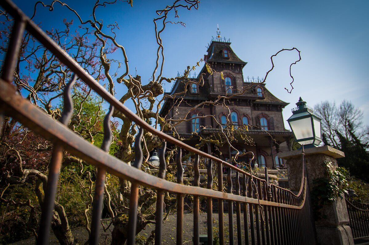 Phantom Manor with view from garden fence