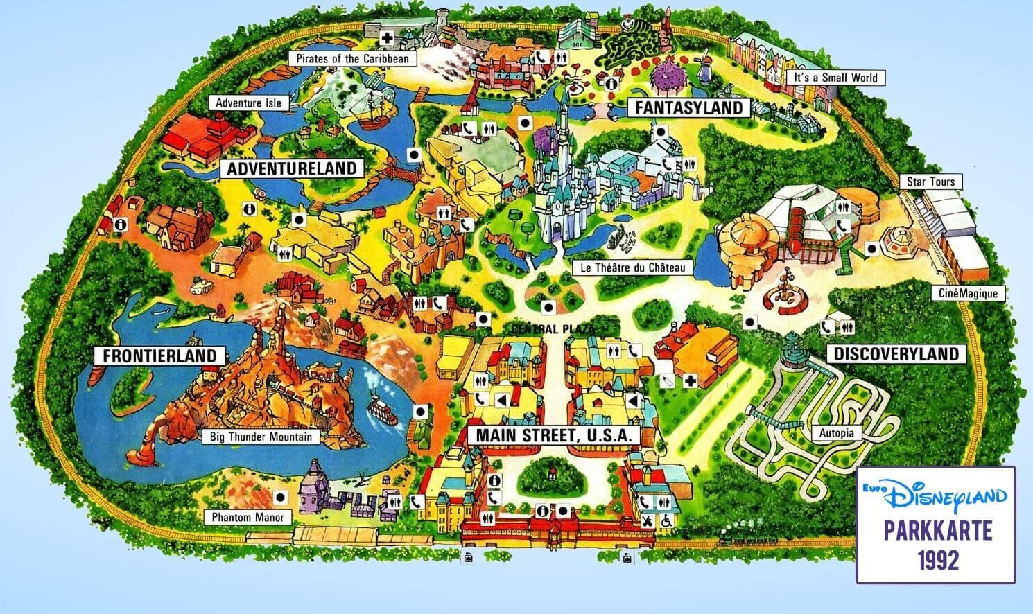 Karte Disneyland Paris Attraktionen.Euro Disneyland Und Seine Schwierigen Anfangsjahre