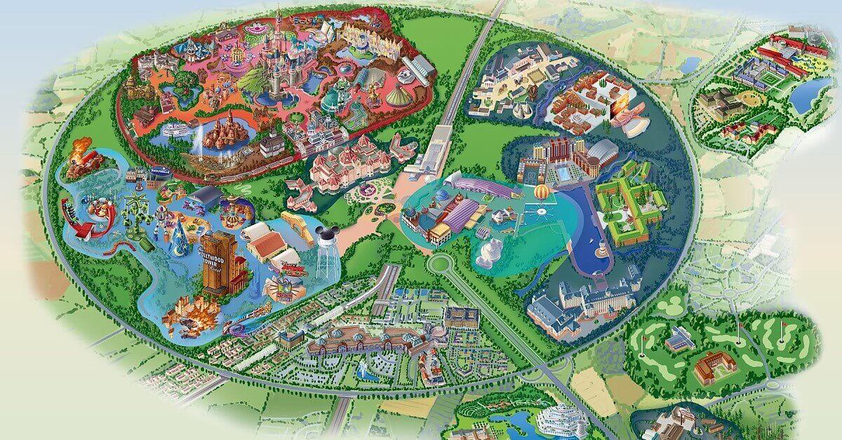 Karte Disneyland Paris Attraktionen.Disneyland Paris Disney Resort Mit Themenparks Hotels Mehr