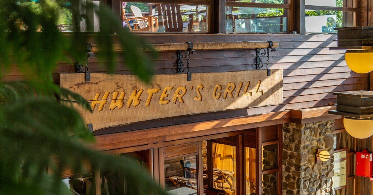 Hunter's Grill entrance sign