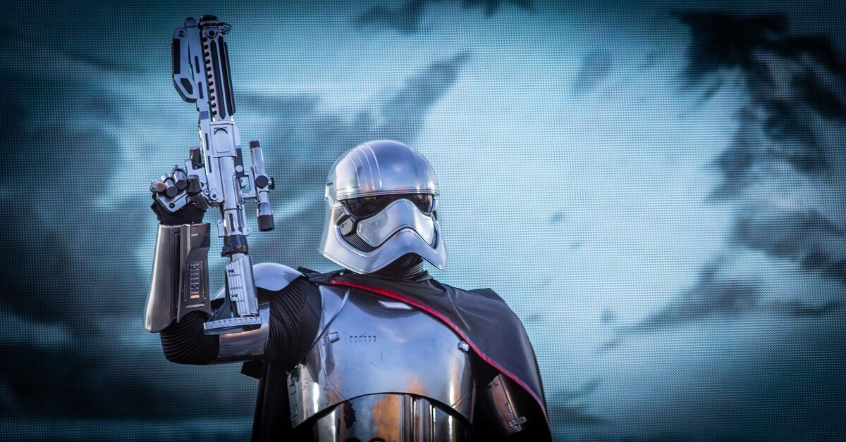 Captain Phasma beim March of the First Order (Marsch der Ersten Ordnung)