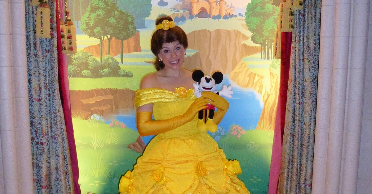 Belle aus Beauty and the Beast im Princess Pavilion
