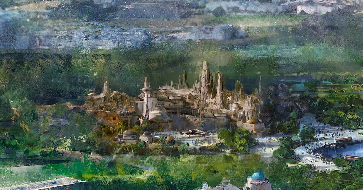 Concept Art zum Star Wars Land